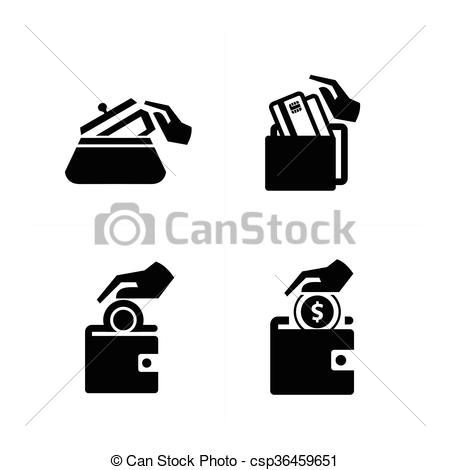Clipart Vector of Put down money icon csp36459651.
