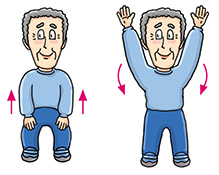 Put your legs down clipart images.