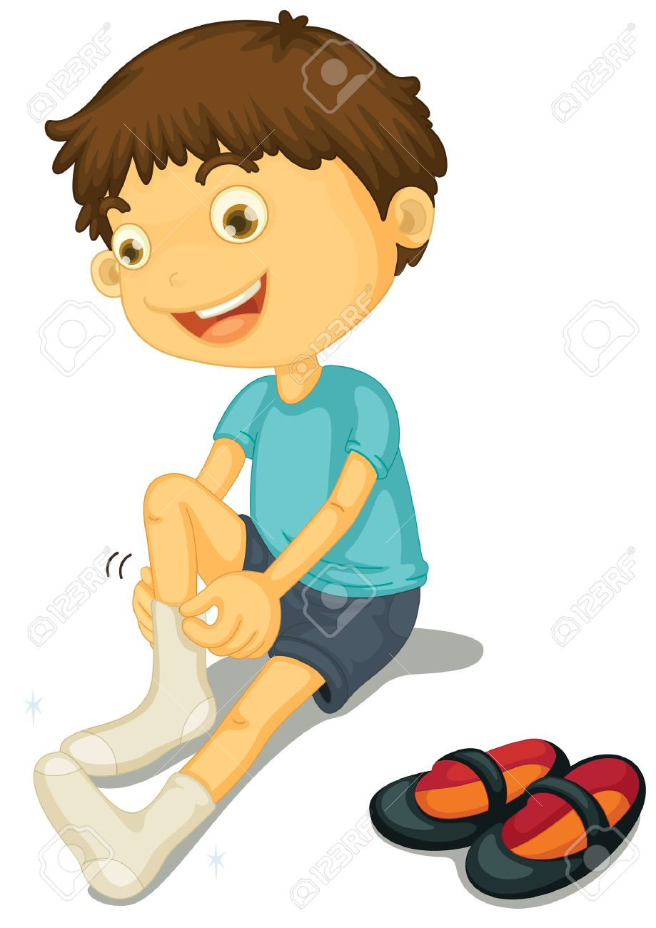 Put On Clothes Clipart.