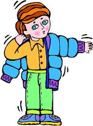 Putting On A Jacket Clipart.