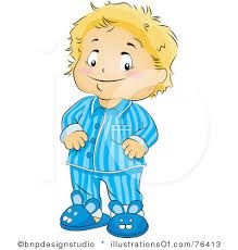 Image result for cartoon images put on pajamas.
