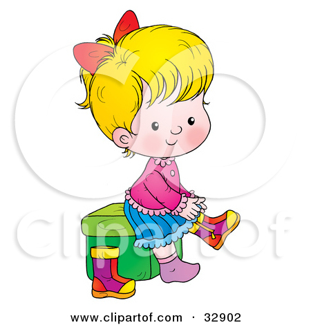 put on shoes clipart #10