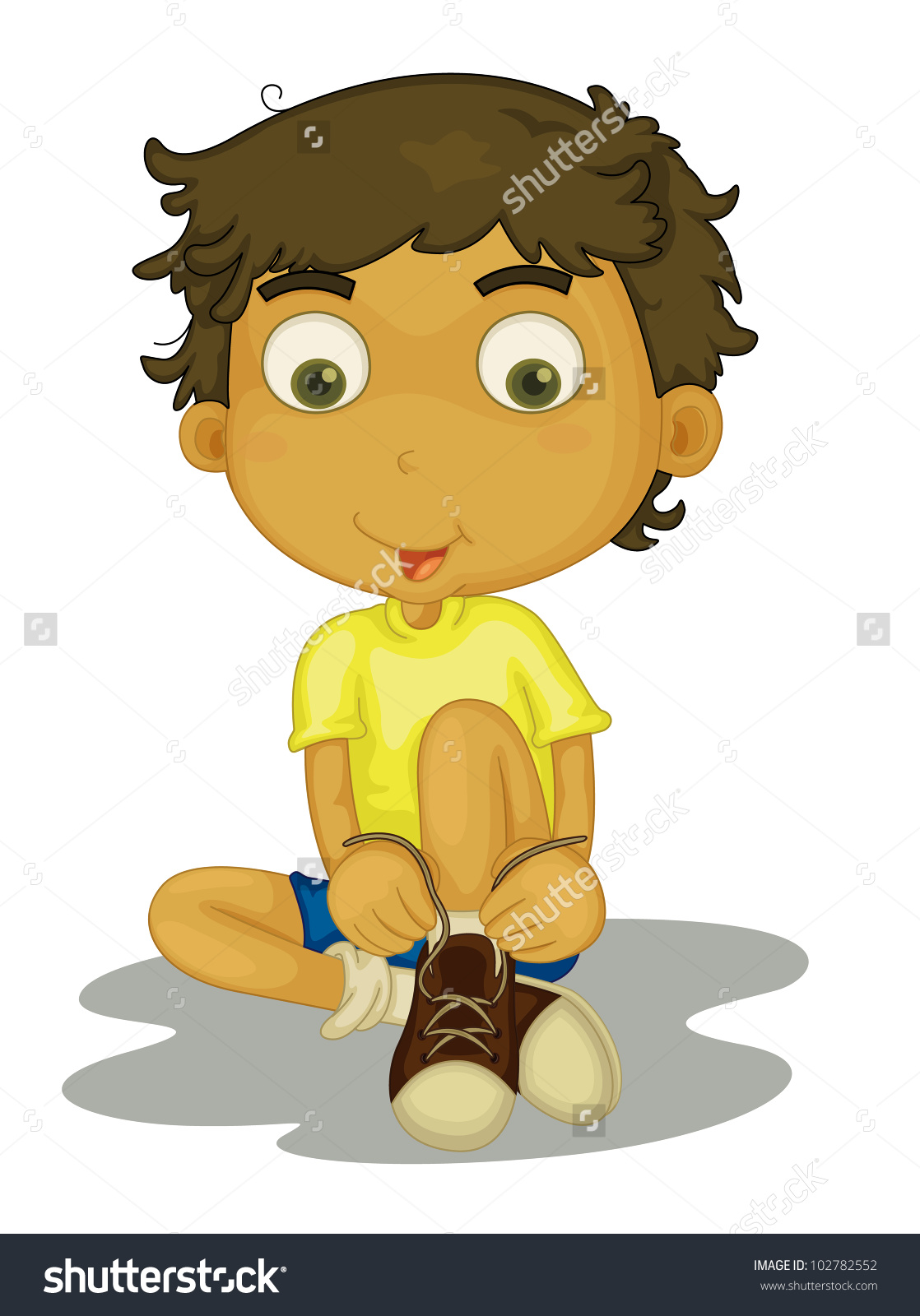 put on shoes clipart #13