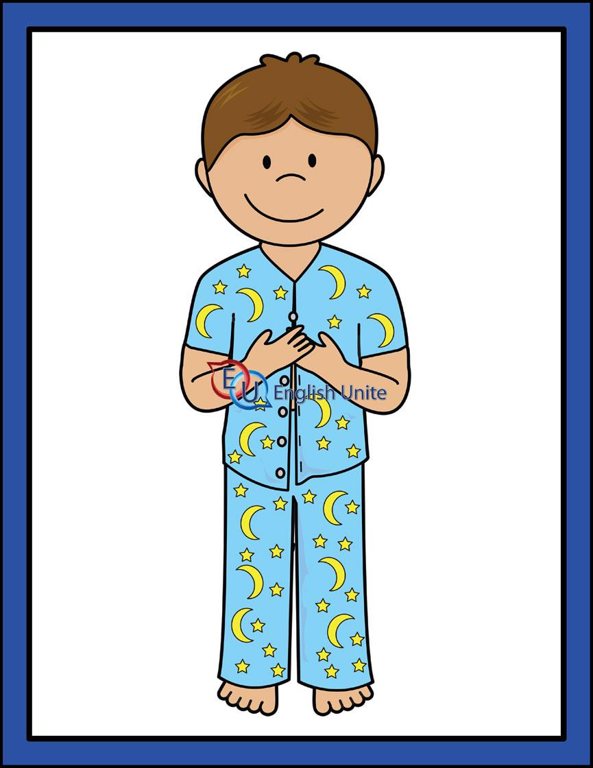 To Put On Pajamas Clipart.
