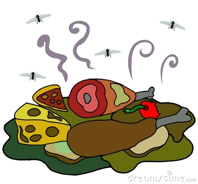 Putrid food clipart.