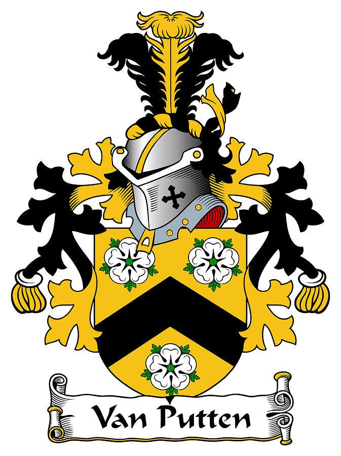 Van Putten Coat Of Arms Dutch Digital Art by Heraldry.