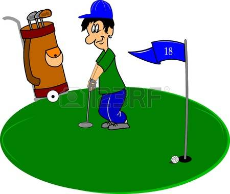 4,978 Putting Stock Vector Illustration And Royalty Free Putting.
