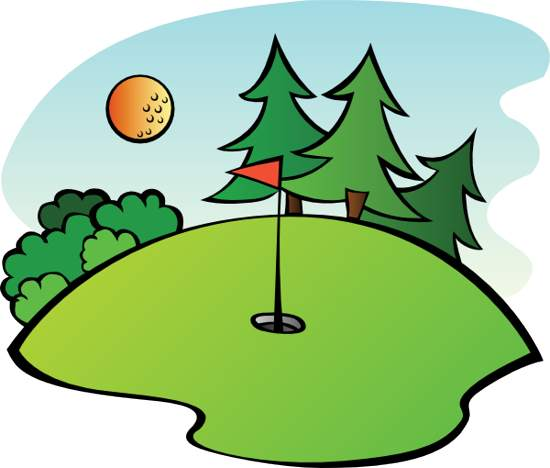 Golfing clipart putting green, Golfing putting green.