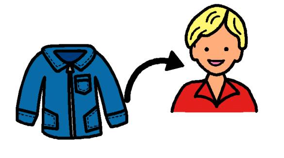 2957 Jacket free clipart.