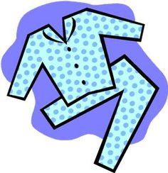 Putting On Pajamas Clipart.