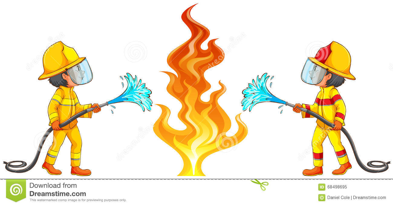 Putting Out Fire Clipart.