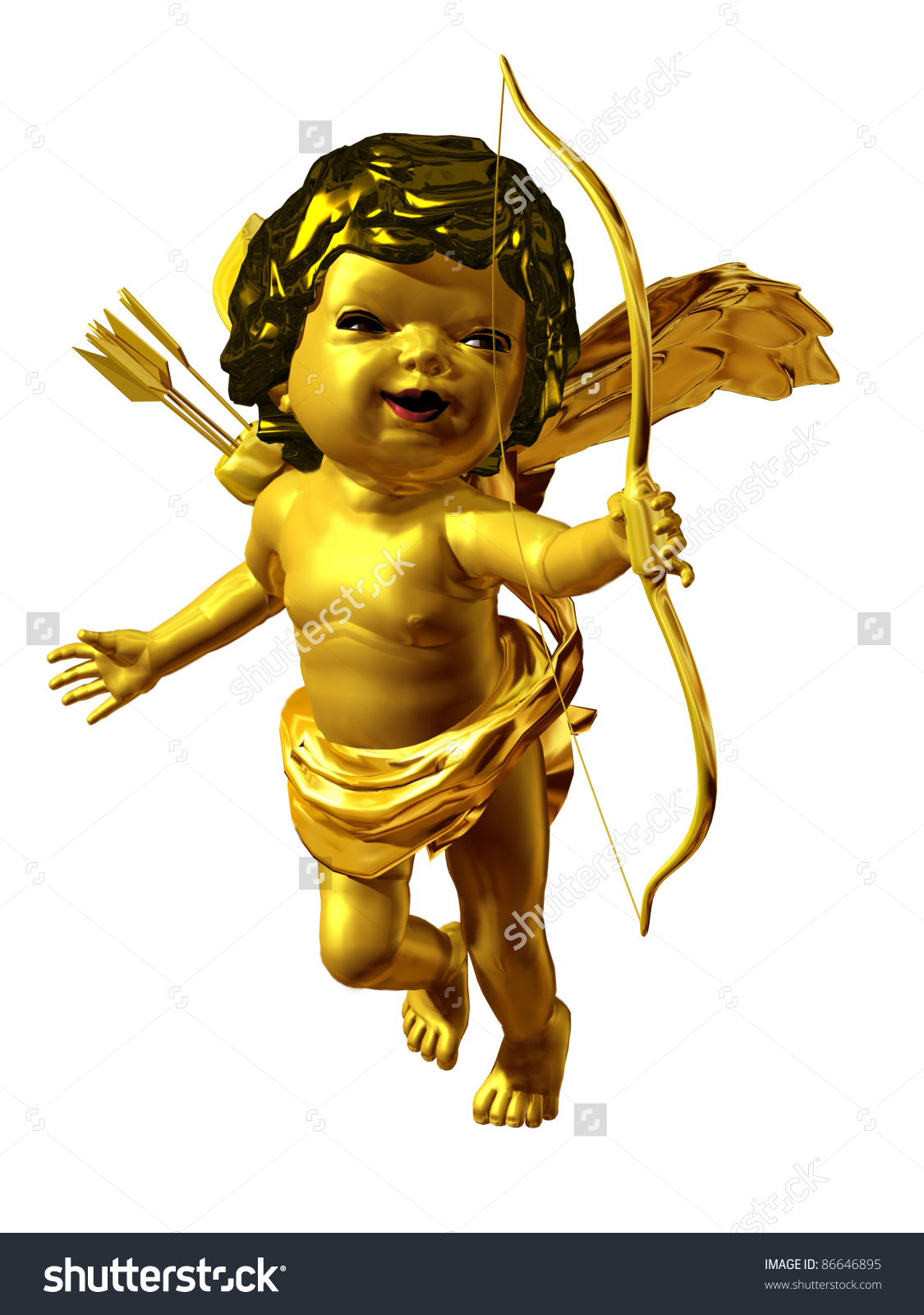Amor Putto Gold Stock Illustration 86646895.