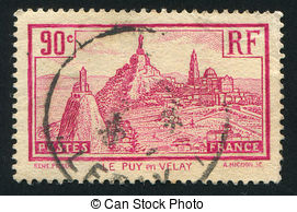 Pictures of Postage stamp France 1933 Le Puy.