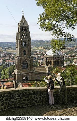 """Stock Images of """"Le Puy en Velay, departure of Saint Jacques de."""