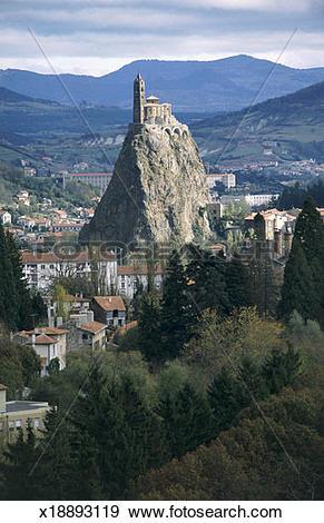 Stock Photograph of Le Puy En Velay, Haute Loire, Auvergne, France.