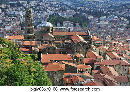 "Pictures of ""Le Puy Cathedral, Cathedrale Notre."