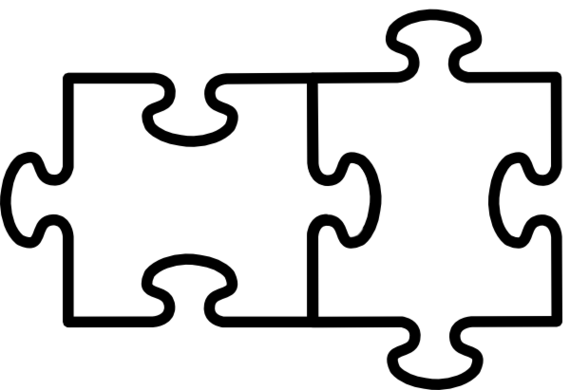 Puzzle clipart black and white 2 » Clipart Station.