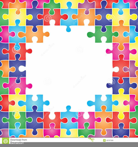 Puzzle Border Clipart.