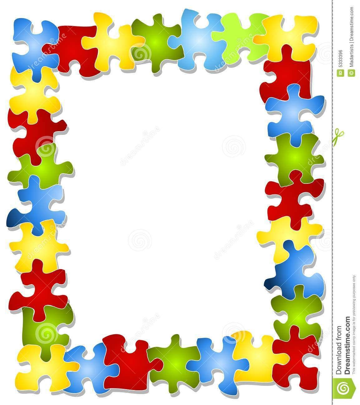 Imgs For > Puzzle Piece Border For Microsoft Word.