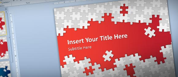Download Free Puzzle Pieces PowerPoint Template for.