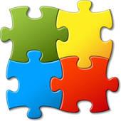 Puzzle Clipart EPS Images..