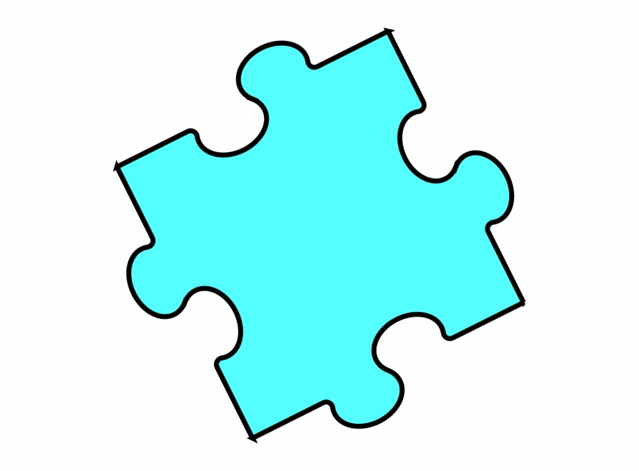 Green Puzzle Pieces Clipart.