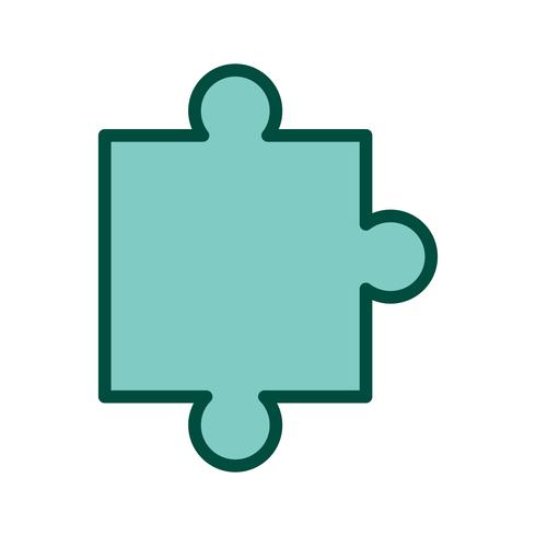 Puzzle Piece Icon Design.