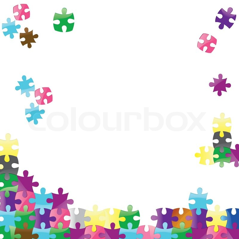 Jigsaw Puzzle Border Clipart.