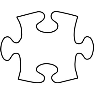 Puzzle piece clipart #4