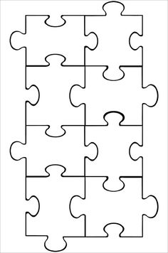 Puzzle Piece Clipart Black And White 20 Free Cliparts