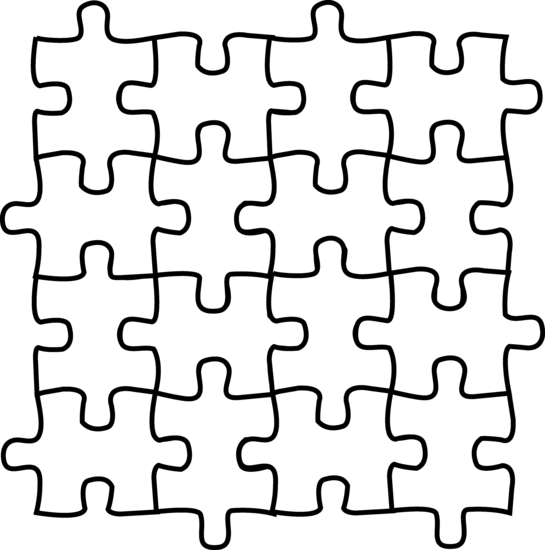 Gallery for puzzle piece clipart black and white image #20083.
