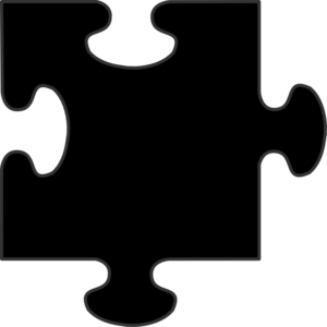 Black Border Puzzle Piece Clip Art at Clker.com.
