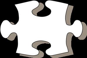 Jigsaw White Puzzle Piece Clip Art at Clker.com.