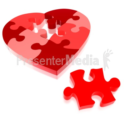Heart Puzzle Piece Tool Kit.