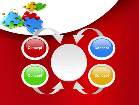 Colorful Puzzle Pieces PowerPoint Template, Backgrounds.