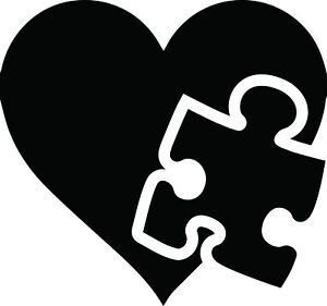 Details about Autism Puzzle Piece Heart Decal Window Love Bumper Sticker  Car Awareness Support.