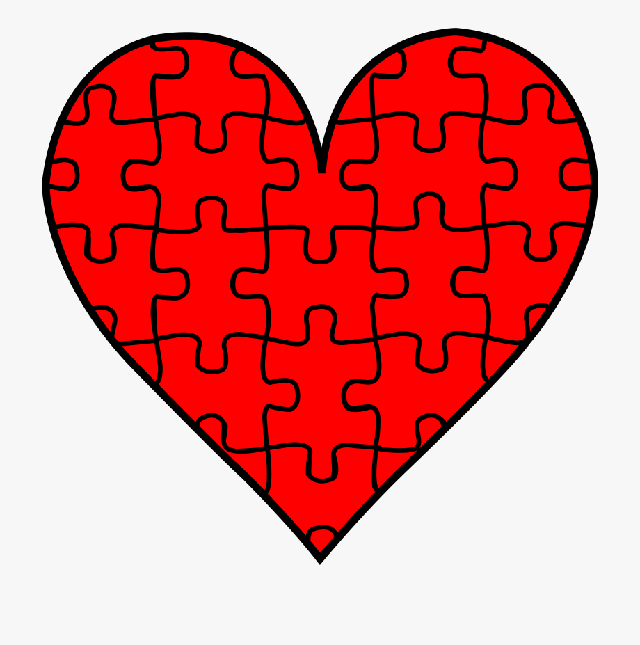 Heart Puzzle Piece Clipart.