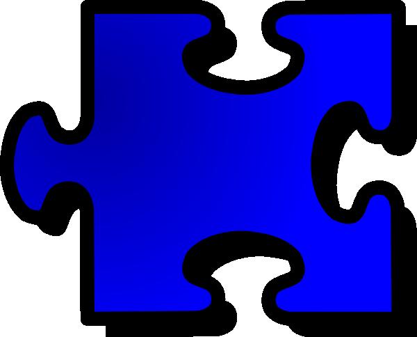 Blue Jigsaw Puzzle Piece clip art (106641) Free SVG Download.