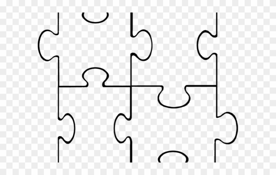 Pice Clipart Puzzle Template.