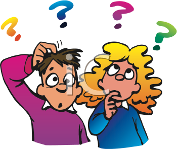 Puzzled Clipart.
