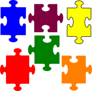 Jigsaw puzzles clipart free.