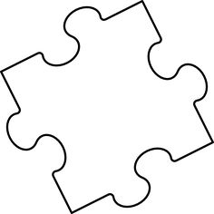 Large Blank Puzzle Pieces.