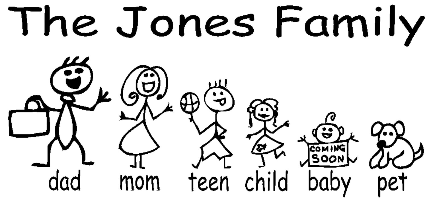 Funny Stick People Clipart.