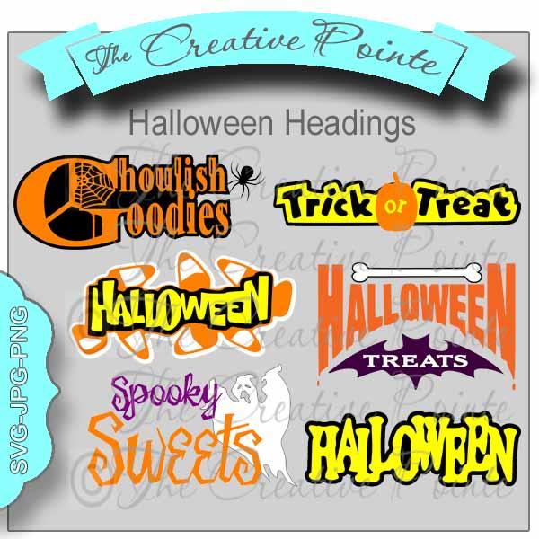 Halloween Headings.