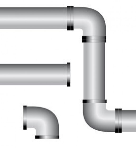 Pvc broken water pipes clipart.