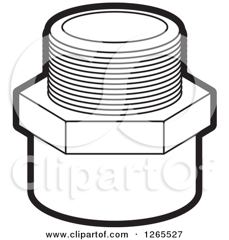 Clipart of a Pvc Pipe Joint.