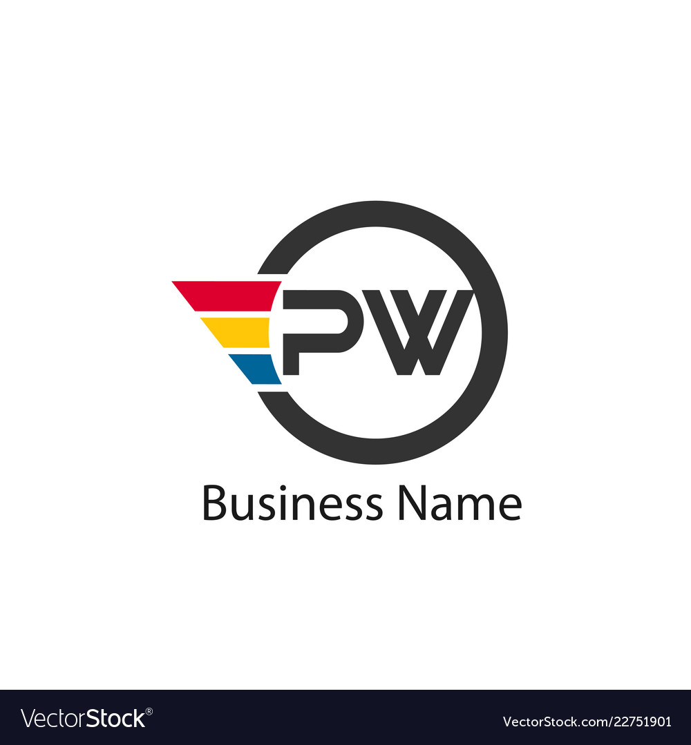 Initial letter pw logo template design.