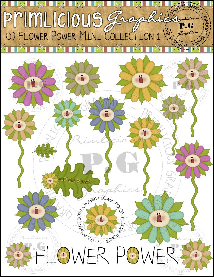 Flower ClipArt : Primlicious Clip Art & Graphics, Instant Download.