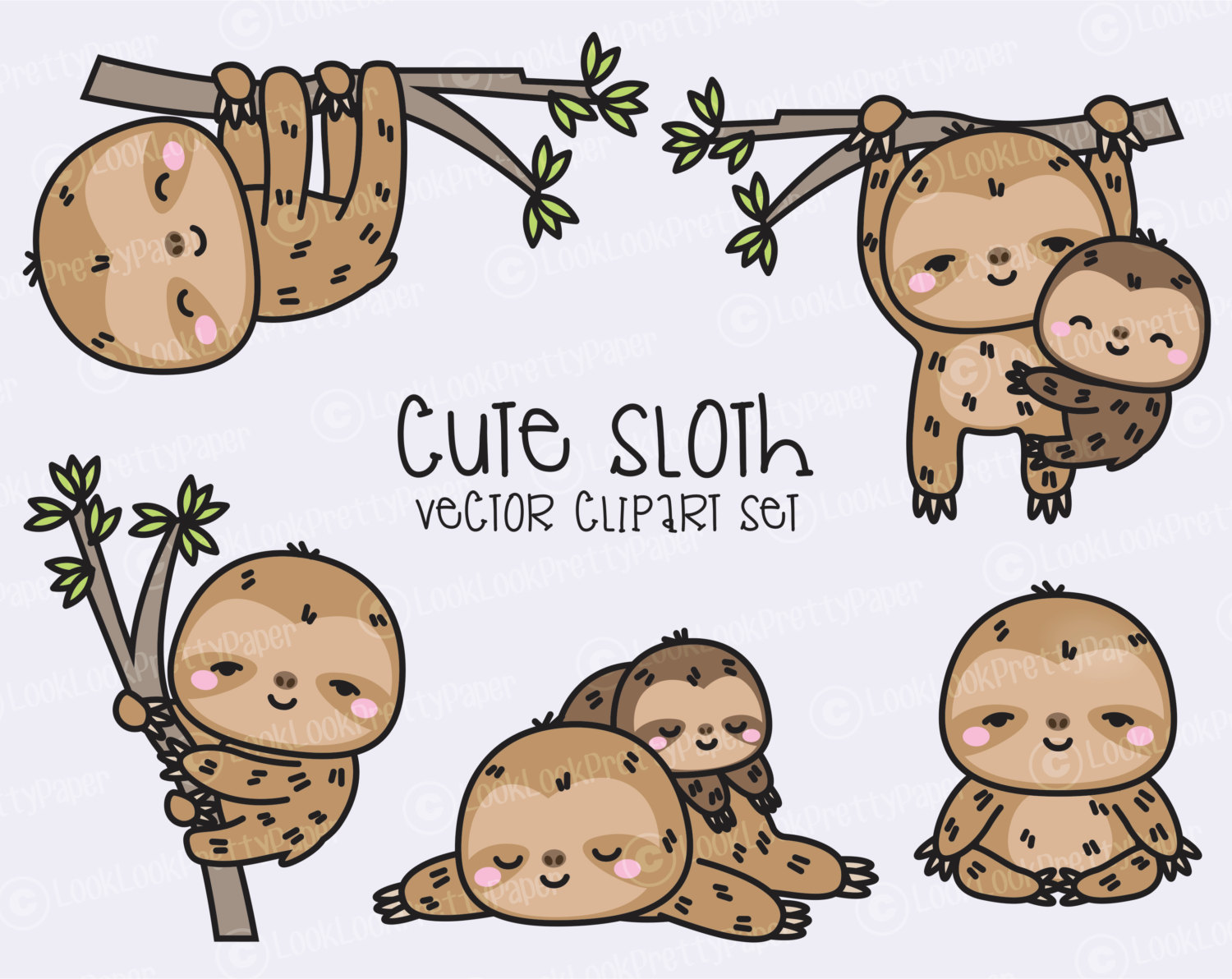 Cute sloth art.