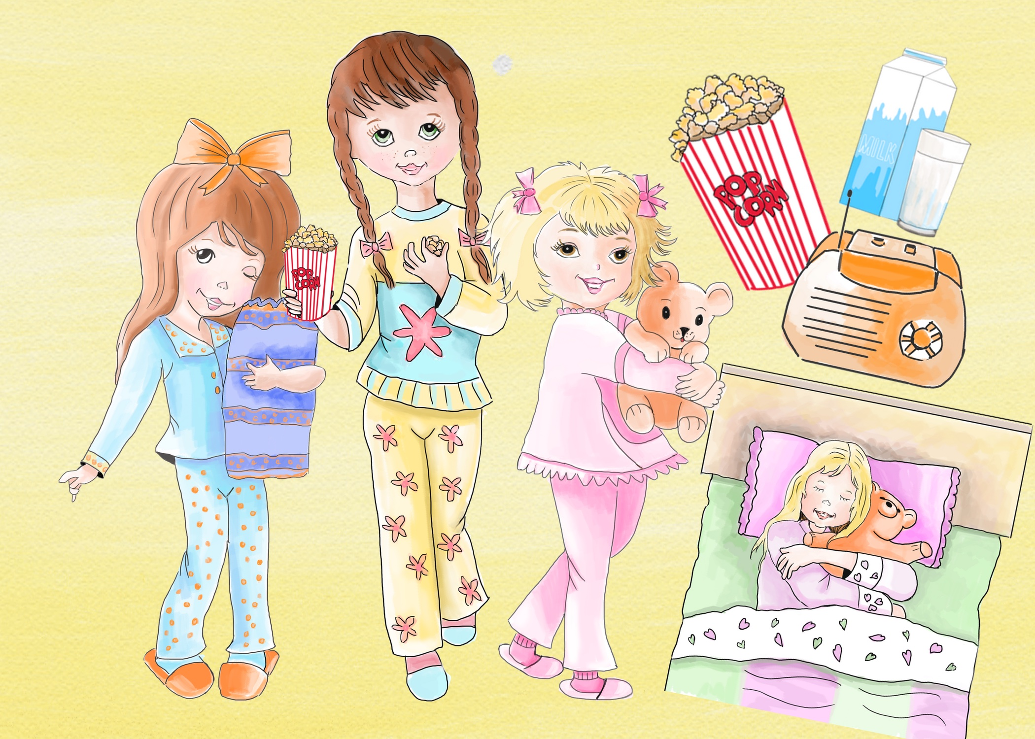 Pajama Party Clipart Images by Whimseez.